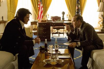 "Michael Shannon is Elvis Presley, left, and Kevin Spacey is President Richard Nixon in ""Elvis & Nixon,"" now on Blu-ray and DVD. (Deseret Photo)"