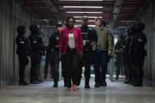 "Viola Davis as Amanda Waller, Ike Barinholtz as Griggs and Joel Kinnaman as Rick Flag in ""Suicide Squad."" (Deseret Photo)"