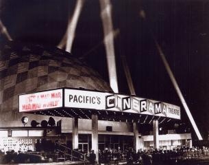 """The Cinerama Dome in Hollywood shows """"It's a Mad, Mad, Mad, Mad World,"""" the film that opened the theater in 1963. (Deseret Photo)"""