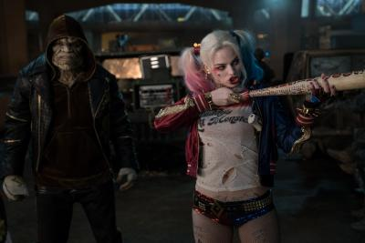 "Adewale Akinnuoye-Agbaje as Killer Croc and Margot Robbie as Harley Quinn in ""Suicide Squad."" (Deseret Photo)"