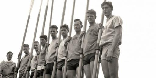 """University of Washington students are ready to row in the PBS """"American Experience"""" episode, """"The Boys of '36,"""" set against the 1936 Olympic Games in Berlin. The TV episode was released on DVD this week. (Deseret Photo)"""