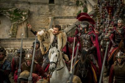"Pilou Asbaek plays Pontius Pilate and Toby Kebbell plays Messala Severus in ""Ben-Hur."" (Deseret Photo)"