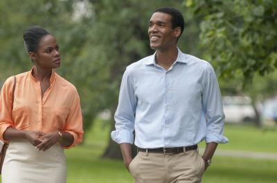 "Tika Sumpter and Parker Sawyers in ""Southside with You."" (Matt Dinerstein/Miramax/Roadside Attractions) (Deseret Photo)"