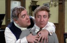 """A manic showman (Zero Mostel, left) and a nervous, intimidated accountant (Gene Wilder) come up with a money scam in """"The Producers"""" (1968), written and directed by Mel Brooks. (Deseret Photo)"""