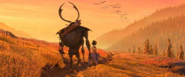 "From left, Beetle, Kubo, and Monkey set off on a promising path in animation studio Laika's epic action-adventure ""Kubo and the Two Strings,"" a focus features release. (Deseret Photo)"