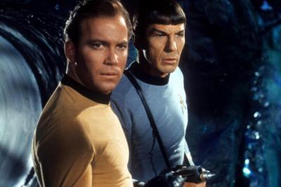 Star Trek (NBC) 1966-1969 Episode: Devil In The Dark   Original airdate: March 9, 1967 Shown from left: William Shatner, Leonard Nimoy (Deseret Photo)