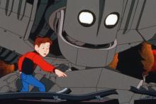 """A young boy befriends a giant robot in the animated feature """"The Iron Giant,"""" now on Blu-ray for the first time. (Deseret Photo)"""