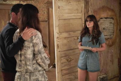 Zooey Deschanel, Max Greenfield, and Hannah Simone in New Girl (2011) (Deseret Photo)
