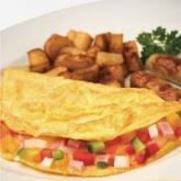 Breakfast food omlette