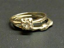 These rings were found wrapped in a $10 bill in one of the Salvation Army of Wake County's red kettles over the weekend.