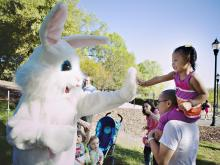 Don't expect a basket full of candy at Raleigh parks' Easter egg hunts. This year, you'll find some snacks, along with other prizes such as stickers, erasers, bubbles, stampers and finger puppets.