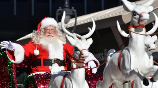 Santa during the WRAL Christmas Parade on Nov. 17, 2012.