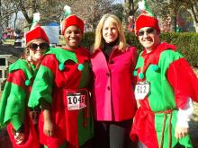 About 2,100 runners and walkers turned out for the Jingle Bell Run at St. Mary's School in Raleigh.