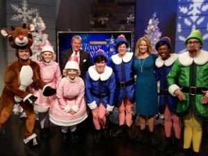 Rudolph and elves from 'Rudolph the Red-Nosed Reindeer - The Musical' joined WRAL for the 2015 tower lighting.