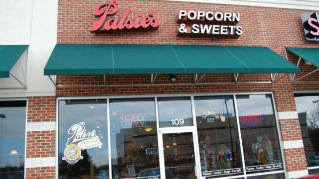 Palsie's Popcorn & Sweets is located at 10750 Wakefield Commons Drive in Raleigh.