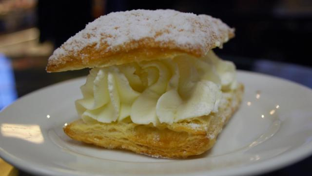 An absolutely luscious cream puff from Guglhupf bakery in Durham.
