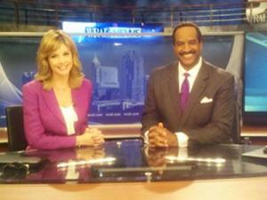 WRAL anchors Jackie Hyland and Gerald Owens