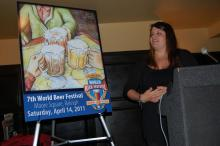 Raleigh artist Noelle Rousseau designed the winning poster for the World Beer Festival in Raleigh.