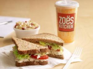 A chicken salad sandwich from Zoe's Kitchen