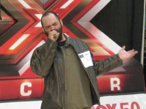 One of the 300 people to audition in the Fox 50 X Factor contest. (Photo by Brian Lorello)