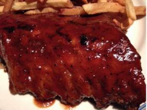 The ribs at Winston's.