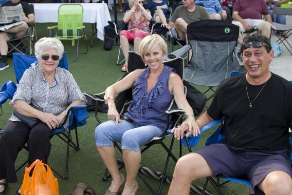 Miguel Bonano, Wendy Banister, Pam Goodhew from Raleigh enjoy th