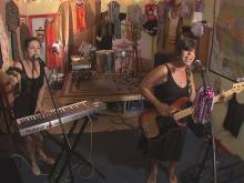 Catherine Steele, Ginger Wagg and Theresa Stone make up the Chapel Hill band, Boykiller.