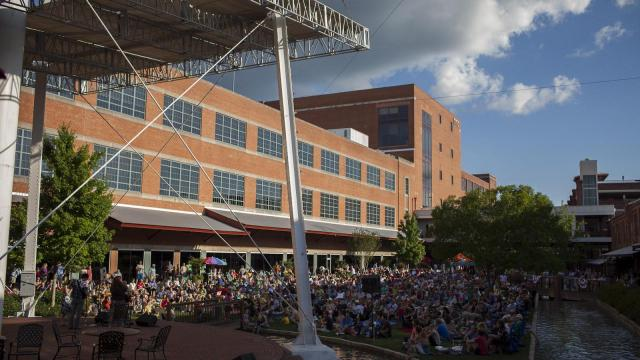 Revelers packed the greenway during Back Porch Music on the Lawn Series at American Tobacco Campus. The event featured Adam Hurt, Stephanie Coleman and Beth Williams Hartness.