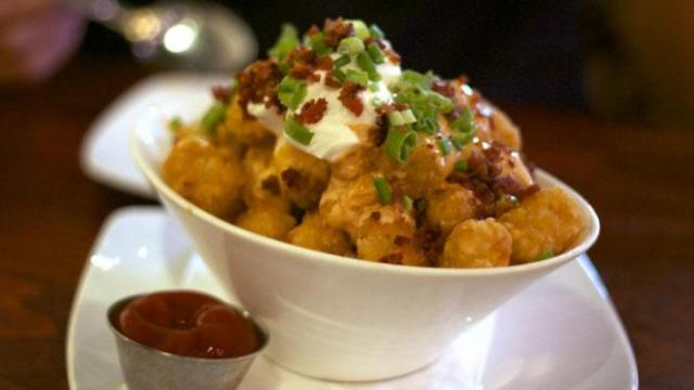 The Loaded Tots at Busy Bee Cafe in Raleigh. (Photos by The Straight Beef)