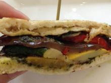 The grilled vegetable sandwich at ORO in Raleigh.