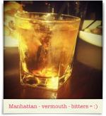 Sullivan's Steakhouse: Manhattan - vermouth - bitters = :)