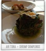 Revolution: Ahi Tuna + shrimp dumplings