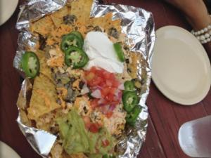 Taken at The Remedy Diner.  Comment: Daiya cheese vegan nachos! Yums.