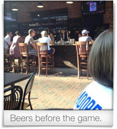 Taken at Tyler's Restaurant & Taproom.  Comment: Beers before the game.