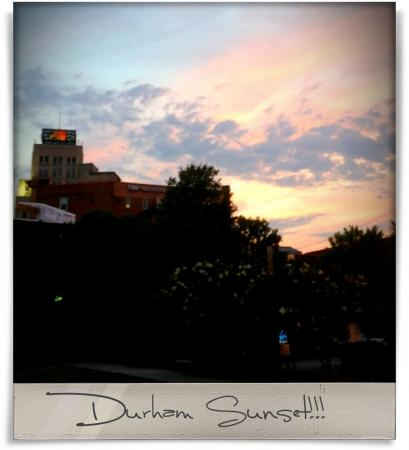 Taken at Dos Perros.  Comment: Durham Sunset!!!