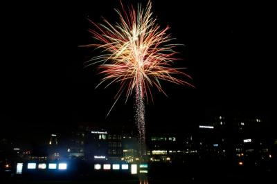Fireworks light up the night sky as the City of Durham and the Durham Bulls celebrate the 4th of July.