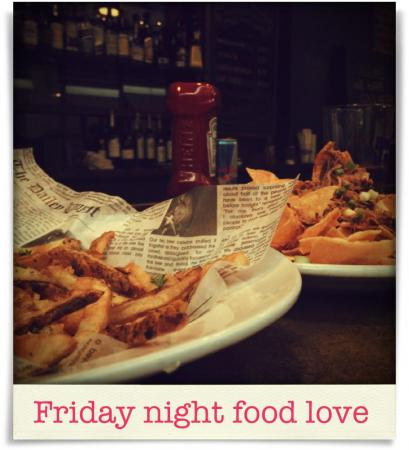 Taken at Tyler's Restaurant & Taproom.  Comment: Friday night food love