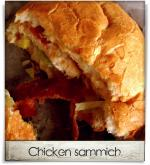 Ruckus Pizza: Chicken sammich