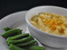 The Kids Mac n' Cheese with snap peas at Pronto Pasta (Image from Pronto Pasta)