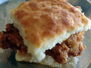Chicken biscuit at Beasley's Chicken and Honey