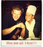 Sullivan's Steakhouse: She ate all 14oz!!!