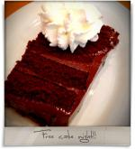 Nantucket Grille: Free cake night!!