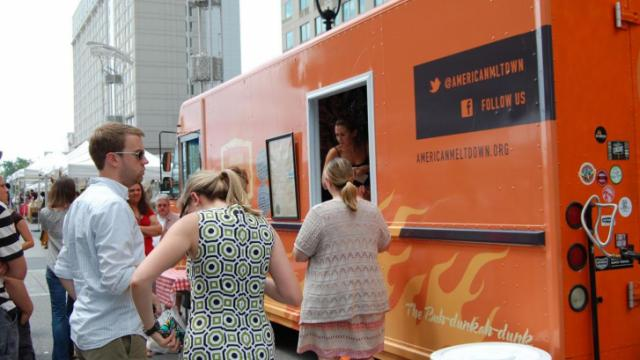 The American Meltdown food truck was on hand for this special cheese edition of the Raleigh Downtown Farmers Market.