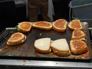 Seven local restaurants competed in a grilled cheese cook-off at the Raleigh Downtown Farmers Market on Aug. 1, 2012.