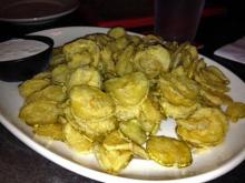 The fried pickles at the Village Draft House.