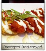 Oro Restaurant and Lounge: Ermahgerd! Fried chicken!