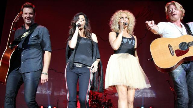 Little Big Town opened for Rascal Flatts at Time Warner Cable Music Pavilion at Walnut Creek on Friday, August 10, 2012 in Raleigh, NC (Photo by Jack Morton).