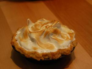 The lemon meringue pie at Hummingbird bakery, located at 721 Broad St. in Durham.