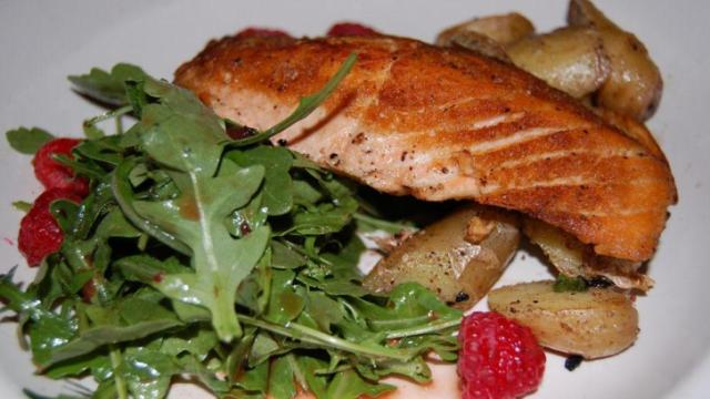 The salmon at Margaux's Restaurant in Raleigh.