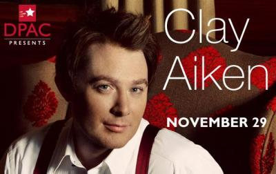 Clay Aiken will perform at the DPAC on Nov. 29. (Image from DPAC)